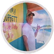 Key West Illusion Round Beach Towel