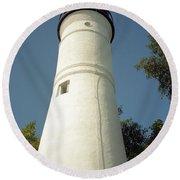 Key West Lighthouse Round Beach Towel