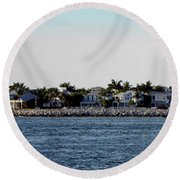 Key West Panorama Round Beach Towel