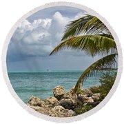 Key West Paradise 4 Round Beach Towel