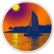 Key West Passion Round Beach Towel