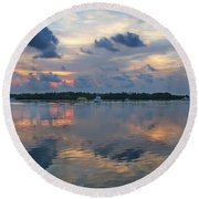 Key West Sunrise 11 Round Beach Towel