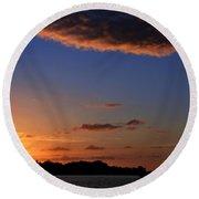 Key West Sunrise 14 Round Beach Towel