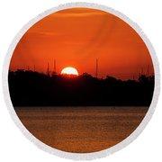 Key West Sunrise 34 Round Beach Towel