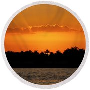 Key West Sunset 25 Round Beach Towel