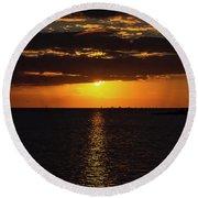 Key West Sunset 29 Round Beach Towel