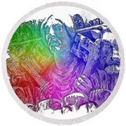 Keys To The City Cool Rainbow 3 Dimensional Round Beach Towel