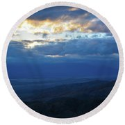 Keys View Sunset Landscape Round Beach Towel