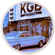 K G B Studios Los Angeles Round Beach Towel