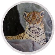 Khensu,  Jaguar Round Beach Towel