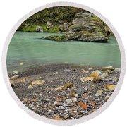 Khosty River. Round Beach Towel
