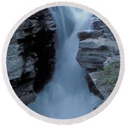 Kicking Horse River Round Beach Towel