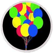 Kids Korner Balloons Round Beach Towel