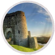 Kidwelly Castle 3 Round Beach Towel