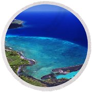Kiholo Bay Aerial Round Beach Towel