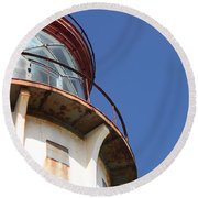 Kilauea Lighthouse Against The Sky Round Beach Towel