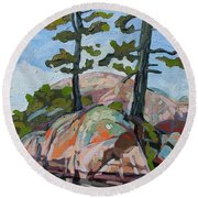 Killarney Point- The Phlip Side Round Beach Towel