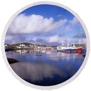 Killybegs, Co Donegal, Ireland Round Beach Towel