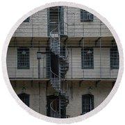 Kilmainham Gaol Spiral Stairs Round Beach Towel