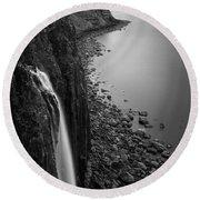 Kilt Rock Waterfall Round Beach Towel