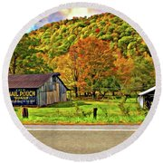 Kindred Barns Painted Round Beach Towel