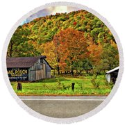 Kindred Barns Round Beach Towel