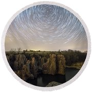 King And Queen Star Trails Round Beach Towel