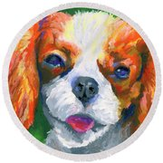 King Charles Round Beach Towel