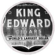 King Edward Cigars Round Beach Towel