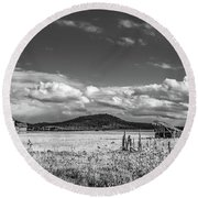 King Homestead_bw-1593 Round Beach Towel