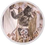 King Kong - Flashbulbs Anger Kong Round Beach Towel