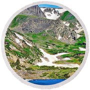 King Lake At Rollins Pass T Round Beach Towel