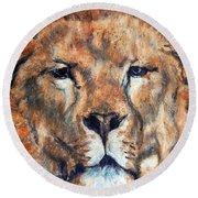King Lion Round Beach Towel