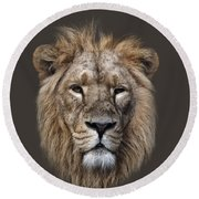 King Of The Jungle Round Beach Towel