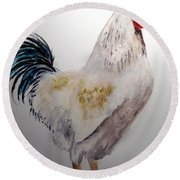 King Of The Coop Round Beach Towel