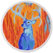 King Of The Fall Round Beach Towel