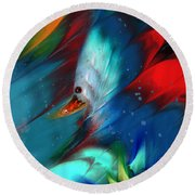 King Of The Swans Round Beach Towel