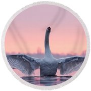 King Of The Water And The Sunset  Round Beach Towel