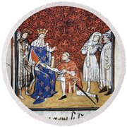 King Philip Iv Of France Round Beach Towel