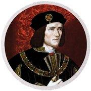 King Richard IIi Of England Round Beach Towel