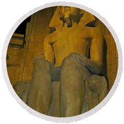 King Tut At The Luxor Hotel Round Beach Towel