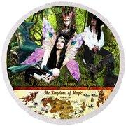 Kingdoms Of Magic Fairy Poster Round Beach Towel