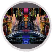Kingly Venice Reflection Round Beach Towel