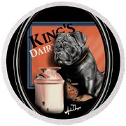 King's Dairy  Round Beach Towel