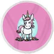 Kiniart Unicorn Sparkle Round Beach Towel
