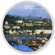 Kinsale, Co Cork, Ireland View Of Boats Round Beach Towel