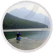 Kintla Lake Paddlers Round Beach Towel
