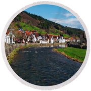 Kinzig River Round Beach Towel