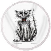 Kipper The Kitty Round Beach Towel