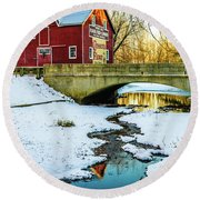 Kirby's Mill Landscape - Creek Round Beach Towel